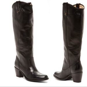 FRYE Tall Jackie Black Button Boot